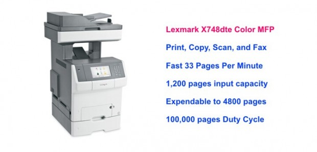 Lexmark X748dte Color MFP