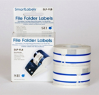 Seiko Blue File Folder Labels SLP-FLB