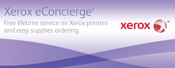 Xerox eConcierge free lifetime warranty